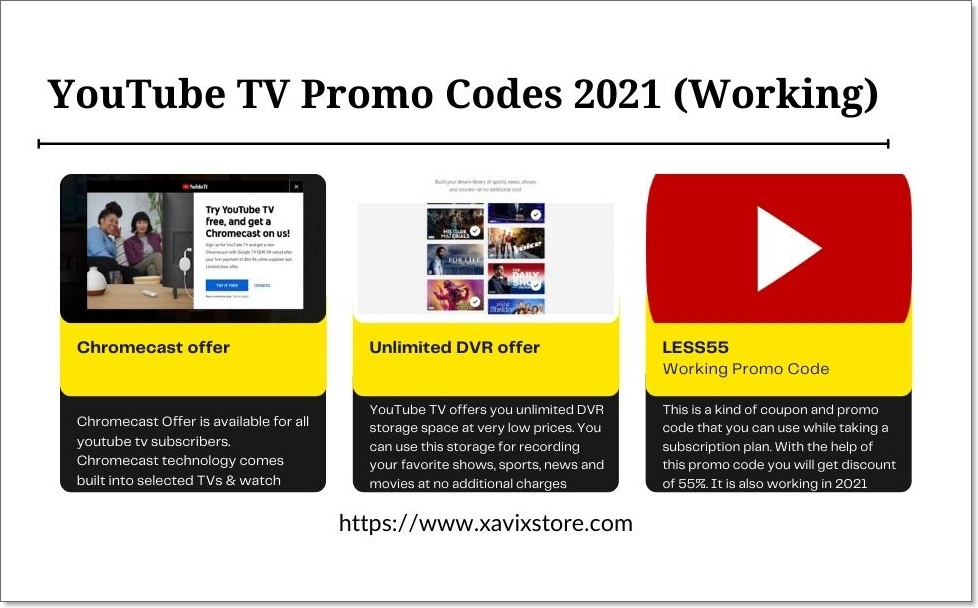 YouTube TV Promo Codes 2021